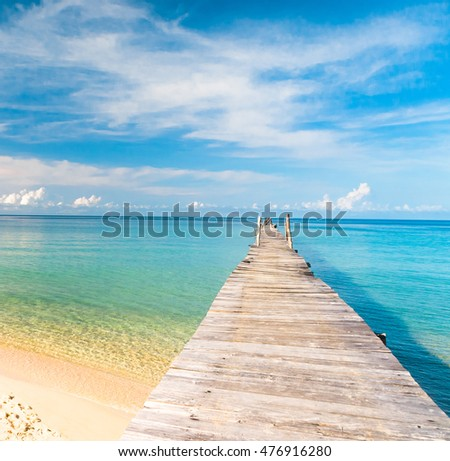 Jetty to the blue Sunny Serenity