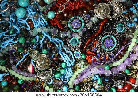 Jewel blue background - stock photo