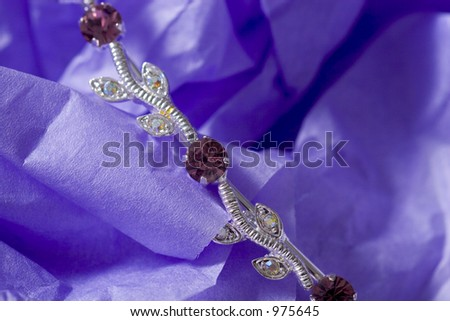 Jewelery on a paper background