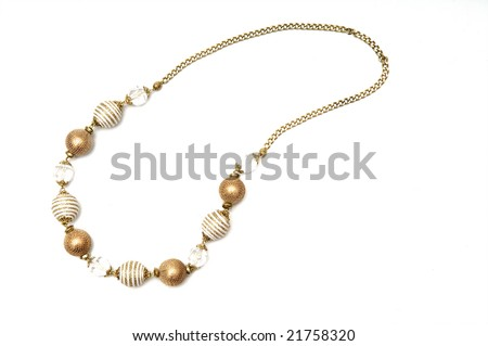 Jeweller ornament of handmade on a white background