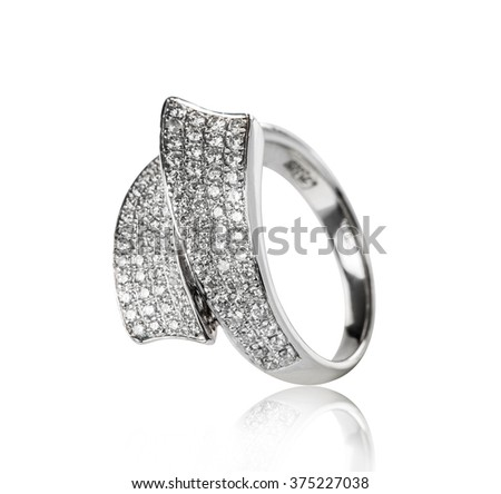Jewellery ring isolated on a white background