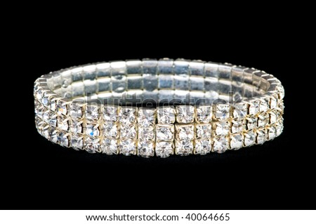Jewellery ring isolated on the black background - stock photo