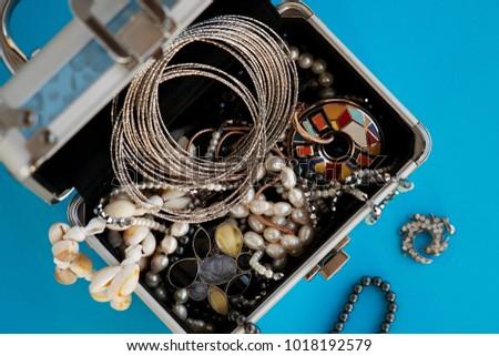 Jewelry Bijouterie Lots Jewelry Box View Stock Photo Image