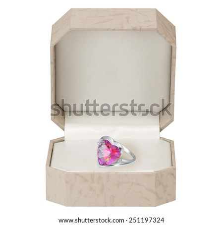 Jewelry and box. - stock photo