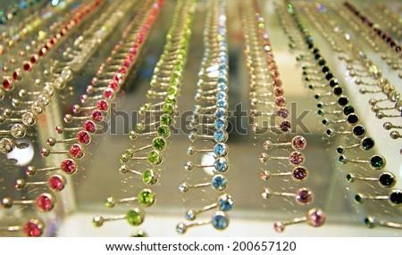jewelry barbell piercings - stock photo