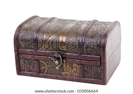 Jewelry Box on a white background