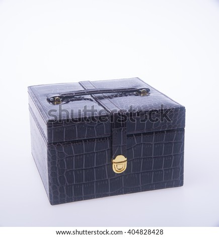 jewelry box or jewellery box on background - stock photo