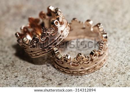 jewelry manufacturing , handicrafts closeup - stock photo