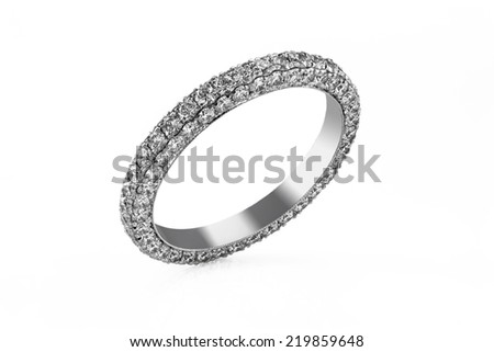 Jewelry ring on a white background. - stock photo