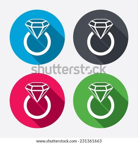 Jewelry Sign Icon Ring Diamond Symbol Stock Illustration 231361663