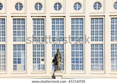 Jewels of modern Architecture â?? detail of functionalist Prague Waterworks with the Statue