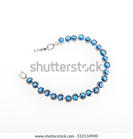 jewels on a white background