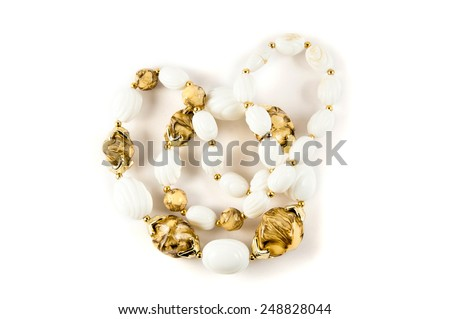 Jewerly on white background