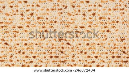 Jewish holiday Passover background. Matzo texture pattern - stock photo