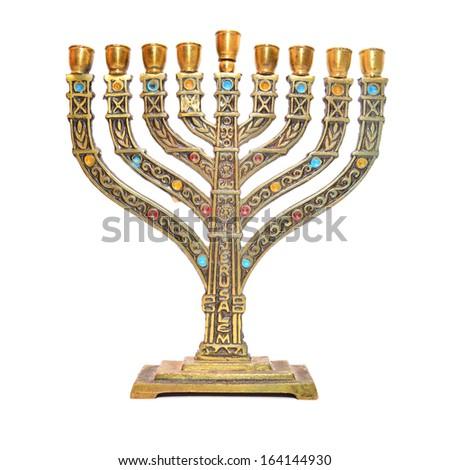 jewish menorah  - stock photo