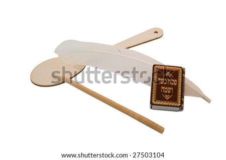 jewish passover set - stock photo