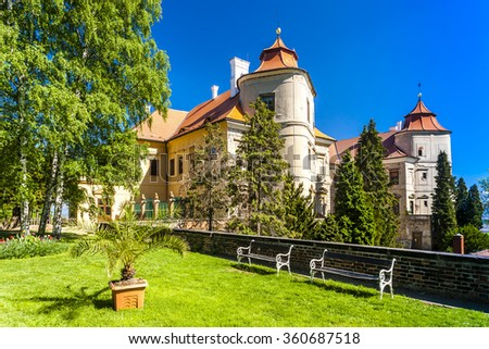 Jezeri Palace, Czech Republic - stock photo