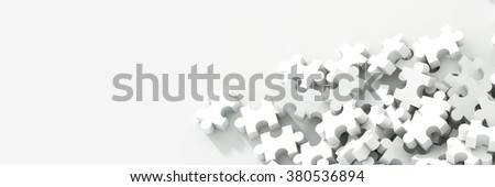 Jigsaw background, conceptual 3d illustration, teamwork and corporate theme