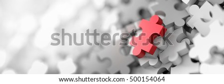 Jigsaw background, 3d rendering