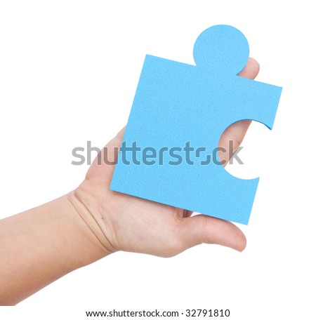 jigsaw isolated over white