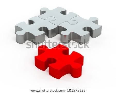 jigsaw pieces - stock photo
