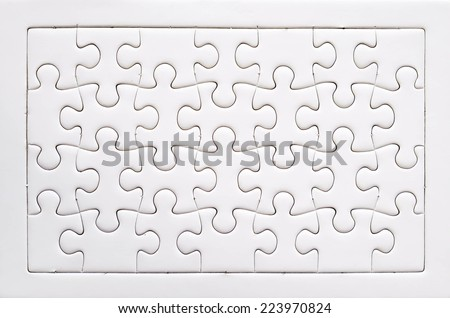 Jigsaw Blank For Puzzle Templates Stock Images RoyaltyFree