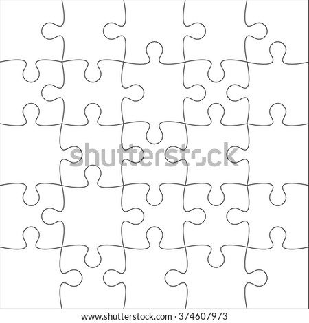 Jigsaw puzzle stock images royalty free images vectors for Puzzle cut out template