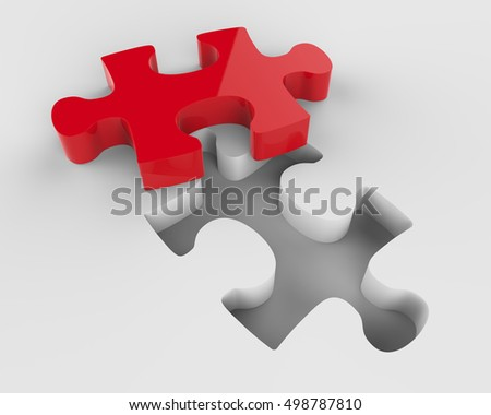 Jigsaw Puzzle 3d Render