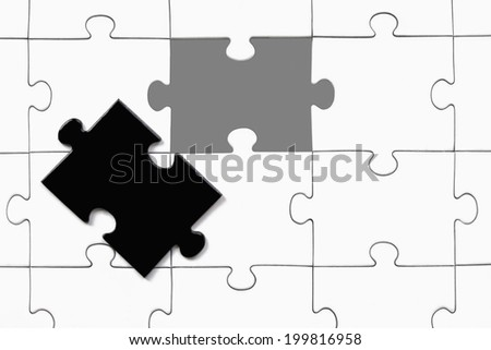 Jigsaw puzzle, illustration - stock photo