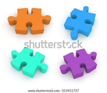 Jigsaw puzzle. 4 in 1