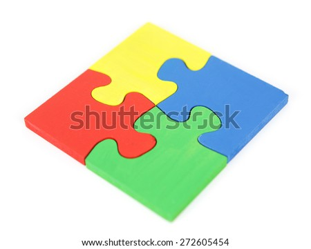 Jigsaw Puzzle isolated on white