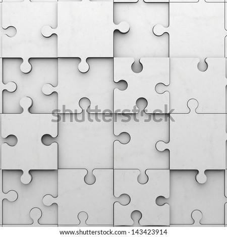 jigsaw puzzle made of bright cement - stock photo