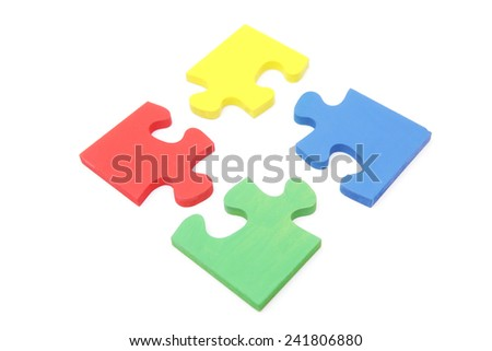 Jigsaw Puzzle - Multicolored solutions / teamwork