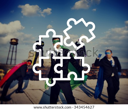 Jigsaw Puzzle Partnership Teamwork Team Concept