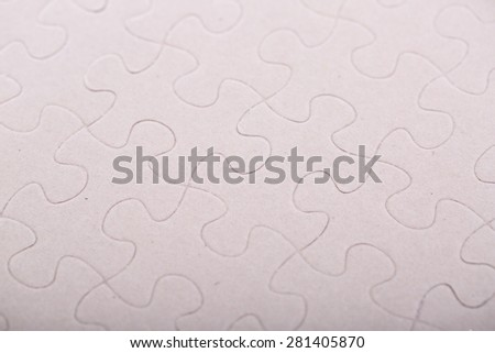 Jigsaw puzzle piece ,complete your mission - stock photo