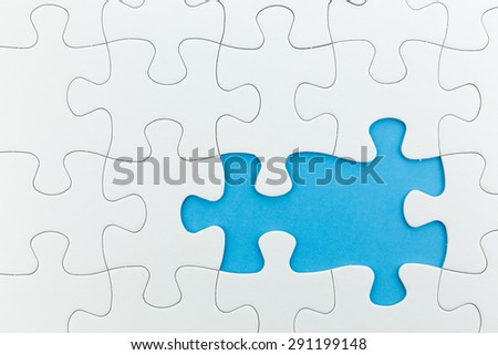 jigsaw puzzle use for business background such as teamwork brainstorm - stock photo