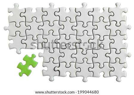 Jigsaw Puzzle with clipping path