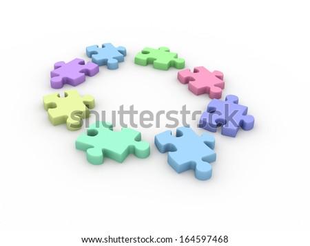 Jigsaw puzzles - stock photo