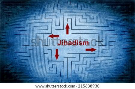 Jihadism maze concept - stock photo
