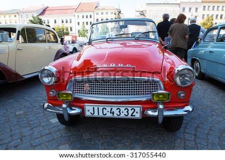 JIHLAVA CZECH REPUBLIC - SEPTEMBER 13.2015:,Exhibition of old cars, September 13.2015  Jihlava, Czech Republic