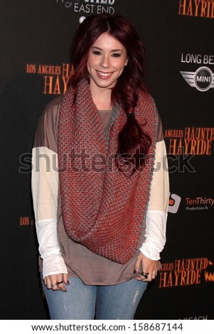 Jillian Rose Reed at the 8th Annual LA Haunted Hayride Premiere Night, Griffith Park, Los Angeles, CA 10-10-13