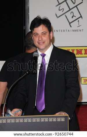 Jimmy Kimmel at the Kobe Bryant Hand and Footprint Ceremony, Chinese Theater, Hollywood, CA. 02-19-11