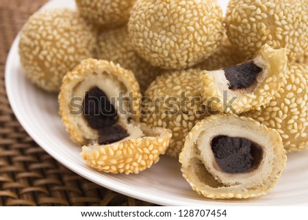 Glutinous rice flour stock images royalty free images vectors jin dui a common hawaiian treat of fried glutinous rice flour rolled in sesame seeds ccuart Choice Image