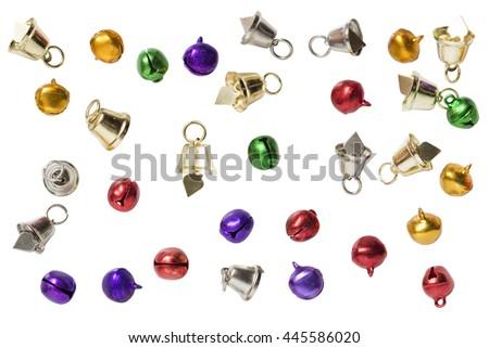 jingle bells isolated on white background - stock photo