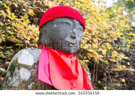 "Jizo statue in Kanmangafuchi,Nikko,Japan,This particular group of Jizo statues is called ""Bake Jizo""(Ghost Jizo)."