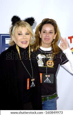 joan rivers and melissa rivers at the children affected with aids halloween party santa monica