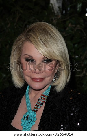Joan Rivers  at the QVC Red Carpet Style Party, Four Seasons Hotel, Los Angeles, CA. 02-25-11