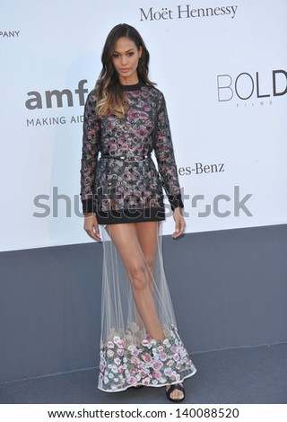 Joan Smalls at amfAR's 20th Cinema Against AIDS Gala at the Hotel du Cap d'Antibes, France May 23, 2013  Antibes, France - stock photo