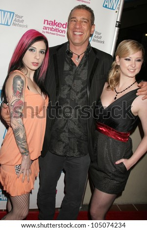 Joanna Angel with Michael Grecco and Sunny Lane at the Los Angeles Premiere of 'Naked Ambition an R-Rated Look at an X-Rated Industry'. Laemmle Sunset 5 Cinemas, West Hollywood, CA. 04-30-09
