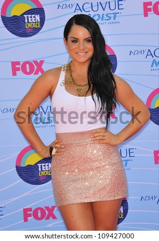 Joanna 'JoJo' Levesque at the 2012 Teen Choice Awards at the Gibson Amphitheatre, Universal City. July 23, 2012  Los Angeles, CA Picture: Paul Smith / Featureflash